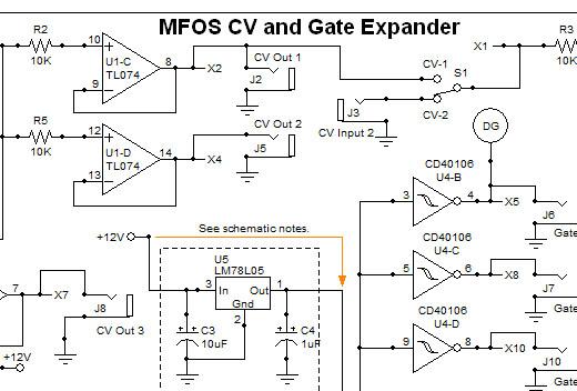 MFOS CV & Gate Expander DIY Electronics Parts Kit