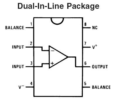 Op-Amp LF411CN JFET Low Offset 8-Pin DIP