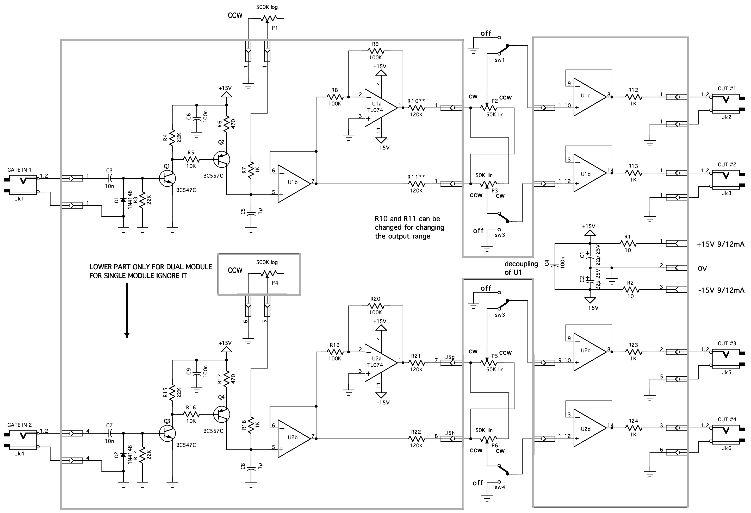 Logic Gate Diagram Creator Block Wiring Explanation Circuit Not Yusynth Auto Bend Module Bare Pcb Gates Drawing