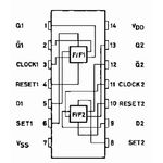 4013B Dual D Type Flip Flop