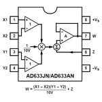 AD633AN Analogue 4 Quandrant Multiplier 8-Pin DIP