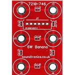 2x3y Banana Socket Panel PCB (20x 18y Pitch)