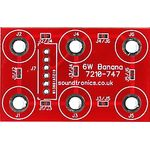 3x2y Banana Socket Panel PCB (18x 18y Pitch)