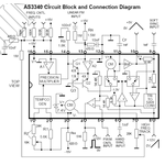 AS3340 Voltage Controlled Oscillator VCO Chip