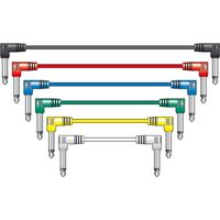 Classic Guitar / Audio Coloured Patch Leads Pk/6, 0.5m Long