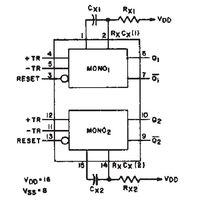 4538BE Dual Precision Monostable Multivibrator