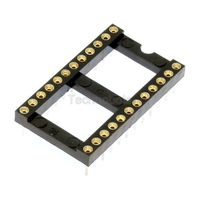 Turned Pin 0.6 inch Dil IC Socket 24 Pin