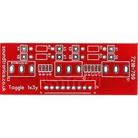1x3y Toggle Switch Panel PCB (22y Pitch)