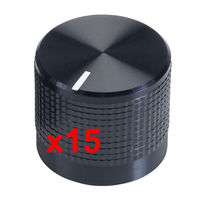 Pack of 15, Cliff KM20B Synth Knobs for  6mm Spline