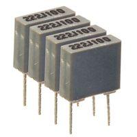 Quad capacitors matched to 1%