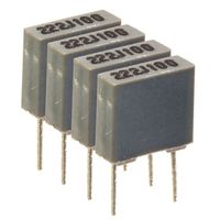 Quad capacitors matched to 1%