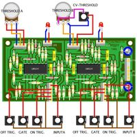 YuSynth Comparators Module Bare PCB Wiring