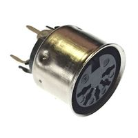 Vertical mounting 5-pin DIN socket