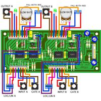 Dual gates slew panel wiring