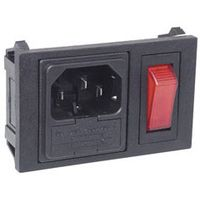 IEC Fused Switched Horizontal Chassis Inlet Plug 10A